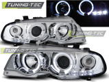 Predné svetlá BMW E46 04/99-03/03 coupe Angel Eyes chrom