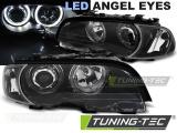 Predné svetlá BMW E46 04/99-03/03 coupe cabrio Angel Eyes led černá