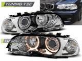 Predné svetlá BMW E46 04/99-08/01 coupe cabrio Angel Eyes chrom