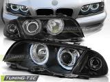 Predné svetlá BMW E46 05/98-08/01 S/T Angel Eyes CCFL černá