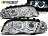 Predné svetlá BMW E46 05/98-08/01 S/T Angel Eyes CCFL chrom