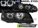 Predné svetlá BMW E46 05/98-08/01 S/T Angel Eyes led černá
