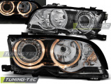 Predné svetlá BMW E46 09/01-03/03 coupe cabrio Angel Eyes chrom