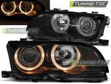 Predné svetlá BMW E46 09/01-03/03 coupe cabrio Angel Eyes černá