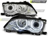 Predné svetlá BMW E46 09/01-03/05 Angel Eyes CCFL chrom