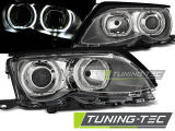 Predné svetlá BMW E46 09/01-03/05 Angel Eyes led chrom