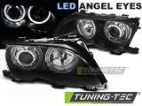 Predné svetlá BMW E46 09/01-03/05 Angel Eyes led černá