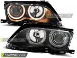 Predné svetlá BMW E46 09/01-03/05 S/T Angel Eyes černá