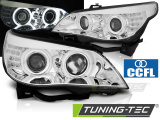 Predné svetlá BMW E60/E61 03-07 angel Eyes CCFL chrom led