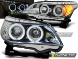 Predné svetlá BMW E60/E61 03-07 Angel Eyes chrom led
