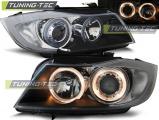 Predné svetlá BMW E90/E91 03/05-08/08 Angel Eyes černá