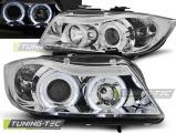 Predné svetlá BMW E90/E91 03/05-08/08 Angel Eyes chrom