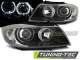 Predné svetlá BMW E90/E91 03/05/11 Angel Eyes černá led