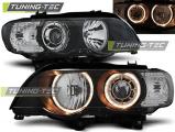 Predné svetlá BMW X5 E53 09/99-10/03 Angel Eyes černá xenon