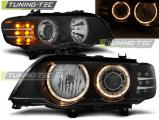 Predné svetlá BMW X5 E53 09/99-10/03 Angel Eyes černá led xenon
