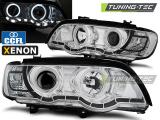 Predné svetlá BMW X5 E53 09/99-10/03 Angel Eyes chrom xenon