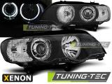 Predné svetlá BMW X5 E53 09/99-10/03 Angel Eyes led černá xenon