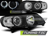 Predné svetlá BMW X5 E53 09/99-10/03 Angel Eyes led černá