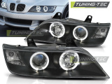 Predné svetlá BMW Z3 01/96-02 Angel Eyes černá