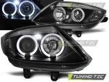Predné svetlá BMW Z4 E85 E86 02-08 Angel Eyes černá