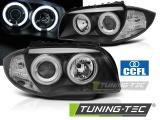 Predné svetlá BMW 1 E87/E81/82/88 04-11 Angel Eyes CCFL černá