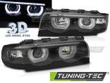 Predné svetlá BMW E38 94-01 Angel Eyes led 3D černá