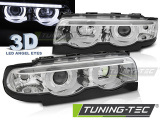 Predné svetlá BMW E38 94-01 Angel Eyes led 3D chrom