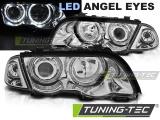 Predné svetlá BMW E46 05/98-08/01 S/T Angel Eyes led chrom