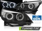 Predné svetlá BMW E60/E61 03-07 angel Eyes CCFL černá led