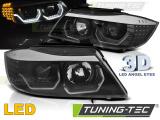 Predné svetlá BMW E90/E91 05-08 Angel Eyes led 3D černá