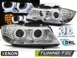 Predné svetlá BMW E90/E91 09-11 Angel Eyes led DRL chrom xenon