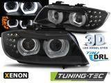 Predné svetlá BMW E90/E91 09-11 Angel Eyes led DRL černá xenon