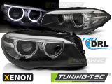 Predné svetlá BMW F10, F11 10-07.13 Angel Eyes led DRL černá xenon