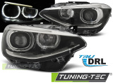 Predné svetlá BMW F20/21 11-12/14 TRUE DRL černá