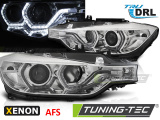 Predné svetlá BMW F30/F31 10/11-05/15 Angel Eyes led DRL chrom AFS xenon