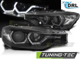 Predné svetlá BMW F30/F31 10/11 - 05/15 Angel Eyes led DRL černá