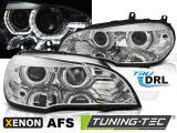 Predné svetlá BMW X5 E70 07-10 Angel Eyes led DRL chrome AFS xenon