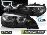 Predné svetlá BMW X5 E70 07-10 Angel Eyes led DRL černá xenon