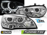 Predné svetlá BMW X5 E70 07-10 Angel Eyes led DRL chrom xenon