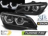 Predné svetlá BMW Z4 E89 09-13 led DRL černá SEQ xenon