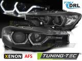Predné svetlá BMW F30/F31 10/11-05/15 Angel Eyes led DRL černá AFS xenon