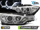 Predné svetlá BMW F30/F31 10/11-05/15 Angel Eyes led DRL chrom xenon
