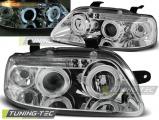 Predné svetlá Chevrolet Aveo 03-06 Angel Eyes chrom