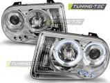 Predné svetlá Chrysler 300C 05-10 Angel Eyes chrom