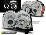 Predné svetlá Chrysler Jeep Grand CHerokee 08-10 Angel Eyes chrom