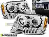 Predné svetlá Chrysler Jeep Grand CHerokee 99-05/05 Angel Eyes chrom