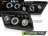 Predné svetlá Dodge Caliber 06-12 Angel Eyes černá