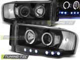 Predné svetlá Dodge Ram 02-06  Angel Eyes černá