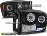 Predné svetlá Dodge Ram 06-08 Angel Eyes černá