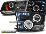 Predné svetlá Dodge Ram 09-18 Angel Eyes černá